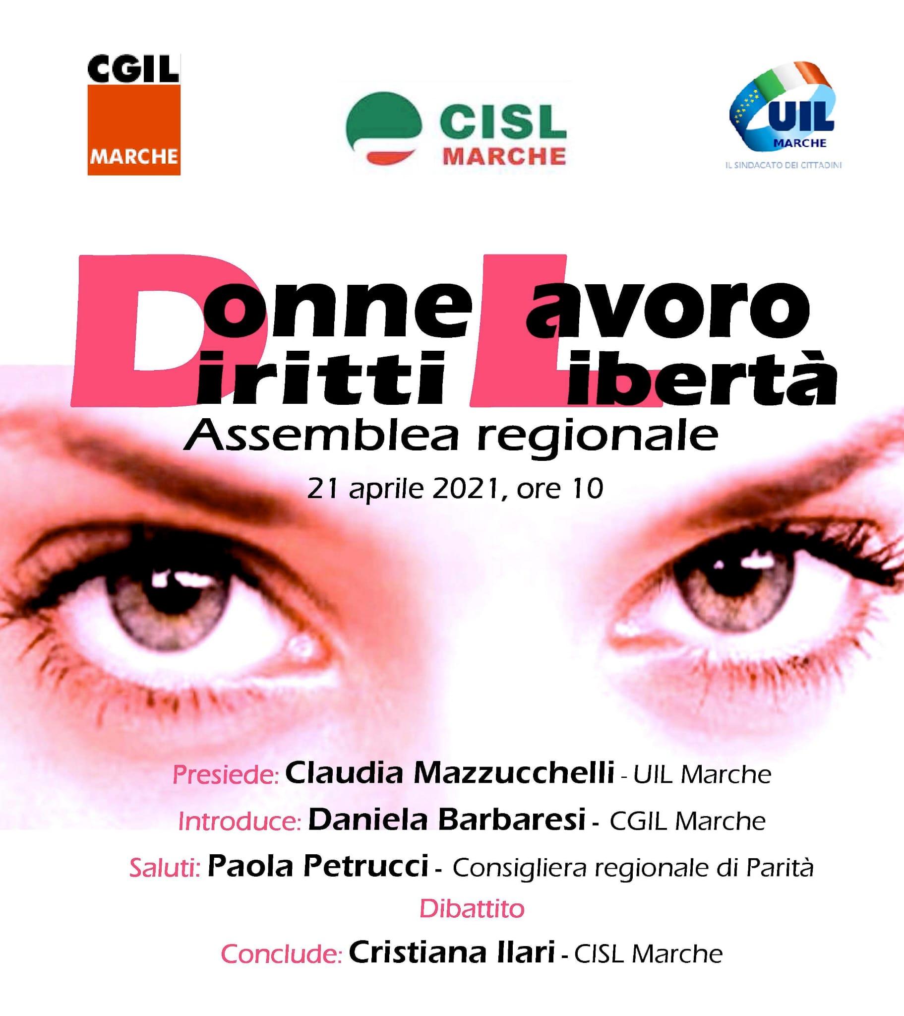 "21 aprile, ""Donne Diritti Lavoro Libertà"": assemblea generale"
