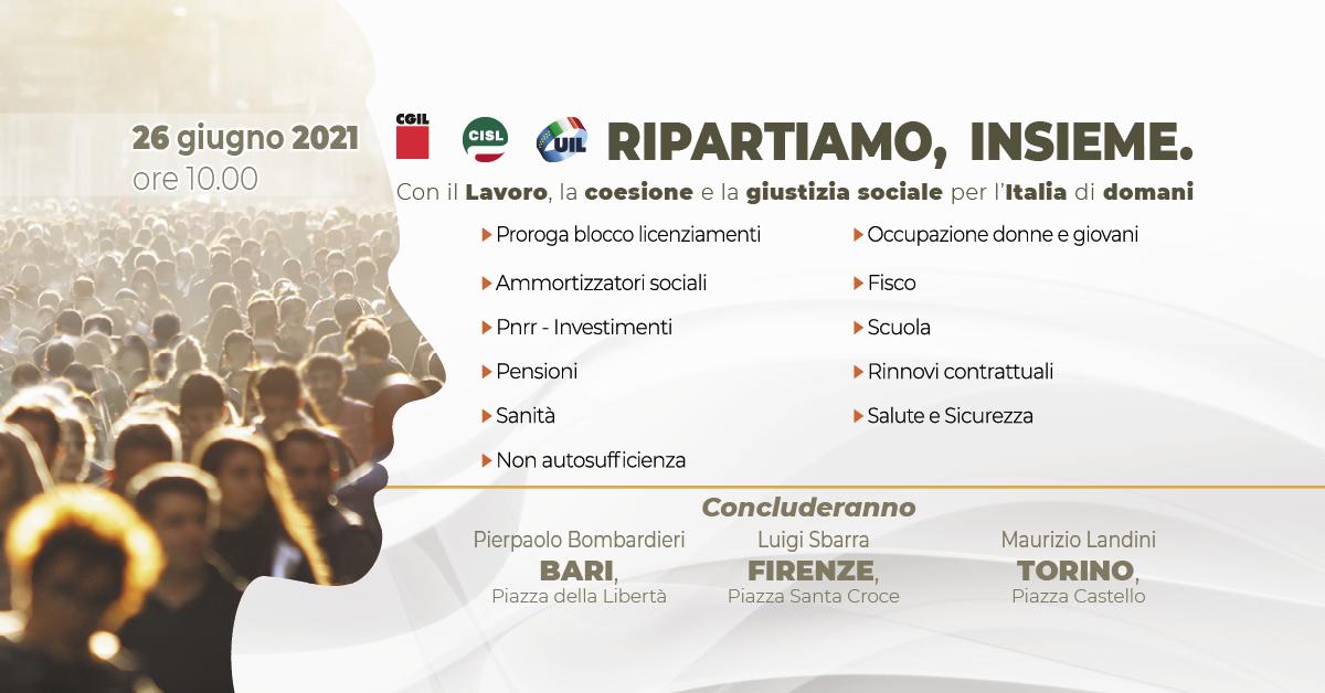 RIPARTIAMO, INSIEME. Con il Lavoro, la coesione e la giustizia sociale per l'Italia di domani